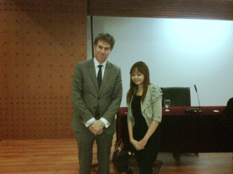 Public lecture with Prof. dr. Jan Berend Wezeman, dean of law faculty at the University of Groningen Netherlands, 2012.